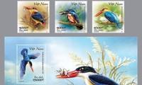 Veröffentlichung des Briefmarkensets zum Schutz der Eisvögel