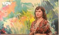 Bilderausstellung der polnischen Malerin in Vietnam