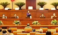 Parlamentspräsidentin Nguyen Thi Kim Ngan trifft Teilnehmer der Landeskonferenz der ethnischen Minderheiten