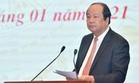Präsentation des Beschlusses der Regierung über Sozialwirtschaftsentwicklung und Verbesserung der Konkurrenzfähigkeit