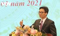Konferenz zur Umsetzung der Aufgaben für Arbeit, verdienstvolle Menschen und Soziales für 2021