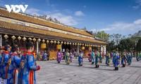 Feier zum Neujahr im Kaiserpalast Hue dargestellt