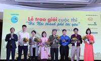 """Preisverleihung des Wettbewerbs """"Die Stadt Hanoi, die ich liebe"""""""