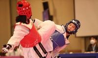 Taekwondoin Truong Thi Kim Tuyen gewinnt Goldmedaille beim Asien-Taekwondo-Meisterschaft 2021