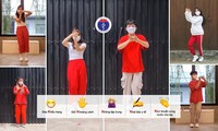 Präsentation des 5K-Tanzes zur Eindämmung der Covid-19-Pandemie