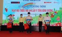 Besonderer Sommer von Kindern in Binh Duong