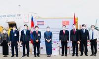 Empfang von Kambodschas Hilfsgütern für Covid-19-Bekämpfung in Vietnam