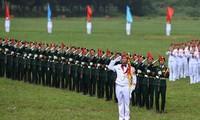 Die Probe für die Eröffnungsfeier der Army Games 2021 in Vietnam