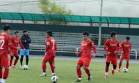 Erstes Training der vietnamesischen U23-Fußballnationalmannschaft in Kirgisistan