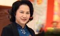 越南国会主席阮氏金银对印度进行正式友好访问