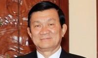 Staatspräsident Truong Tan Sang empfängt Botschafter der Länder