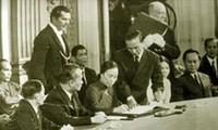Ausstellung der Dokumente der Pariser Friedenskonferenz von 1973