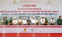 Premierminister Nguyen Tan Dung beim Ausbau der Nationalstraße 1A