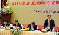 Konferenz zur Meinungssammlung der Abgeordneten für das geänderte Bodengesetz