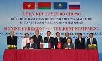 Verhandlungen für Freihandelsabkommen zwischen Vietnam und der Zollunion abgeschlossen