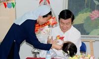 Staatspräsident besucht Kreis Cu Chi in Ho Chi Minh Stadt