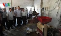 Vorsitzender der Vaterländischen Front Vietnams Nguyen Thien Nhan besucht Ha Tinh