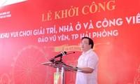 Biogebiet auf Insel Vu Yen in Hai Phong gebaut