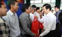 Staatspräsident Truong Tan Sang besucht Ba Ria-Vung Tau