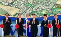 Premierminister Nguyen Tan Dung nimmt am Baubeginn des Industrieparks VSIP Nghe An teil