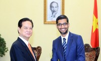 Vietnam wünscht sich Erweiterung der Kooperation zwischen Google und vietnamesischen Partnern