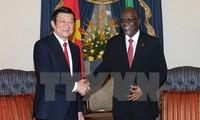 Staatspräsident führt Gespräch mit Tansanias Präsident