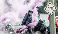 Ausschreitungen bei Demonstration gegen verschärfte Grenzkontrolle zwischen Italien und Österreich