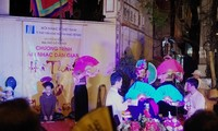 Traditionelle Musik abends in Hanoi