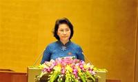 Eröffnung der ersten Parlamentssitzung der 14. Legislaturperiode