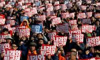 Südkoreas Regierung ruft Demonstranten zum Respekt der Gesetze auf