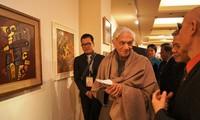 Eröffnung der Ausstellung vietnamesischer zeitgenössischer Bilder und Fotos in Indien