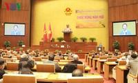 Parlamentspräsidentin trifft ehemalige hauptamtliche Parlamentarier und Beamte des Parlamentsbüros