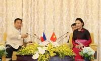 Vietnams Parlamentspräsidentin empfängt Parlamentspräsidenten von Timor-Leste und den Philippinen