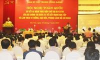 Zwischenbilanzkonferenz für Dekret zur Arbeit nach der Ideologie, Moral und Stil Ho Chi Minhs