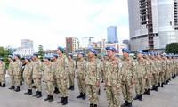 Vietnamesische Friedenssicherungskräfte beginnen ihre Mission