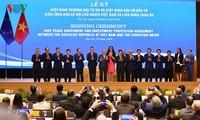Unterzeichnung von EVFTA und IPA entsprechend der strategischen Partnerschaft zwischen Vietnam und EU