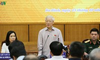 KPV-Generalsekretär, Staatspräsident Nguyen Phu Trong trifft Wähler in Hanoi