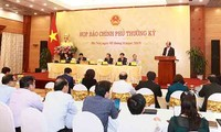 Pressekonferenz der Regierung