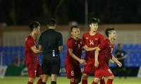 Vietnams U22-Fußballnationalmannschaft der Männer siegt über die laotische Mannschaft mit 6:1