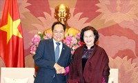 Parlamentspräsidentin Nguyen Thi Kim Ngan empfängt Botschafter aus Australien und Südkorea