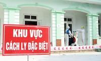Ärzte und Krankenpflege kämpfen gegen Covid-19 in Binh Xuyen