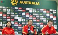 Trainer Mai Duc Chung gibt plausible Erklärung vor dem Spiel mit der australischen Fußballmannschaft der Frauen ab