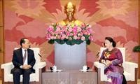 Parlamentspräsidentin Nguyen Thi Kim Ngan empfängt Botschafter Japans und Kambodschas