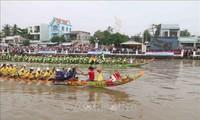 Eröffnung des Festes Ok Om Bok in Tra Vinh 2020