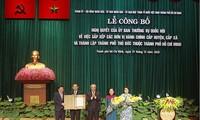 Gründung der Stadt Thu Duc offiziell mitgeteilt