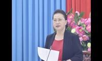 Parlamentspräsidentin Nguyen Thi Kim Ngan tagt mit dem Verwaltungsstab für Wahlen in An Giang