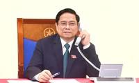 Premierminister Pham Minh Chinh telefoniert mit Premierministern Laos und Kambodschas Viphavanh und Hun Sen
