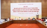 Parlamentspräsident Vuong Dinh Hue trifft hauptamtliche Abgeordnete der vergangenen Legislaturperiode