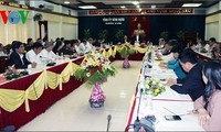 Ketua MN Vietnam melakukan temu kerja dengan pimpinan provinsi Binh Dinh