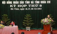 Ketua MN Vietnam, Nguyen Sinh Hung menghadiri Persidangan ke-8, Dewan Rakyat provinsi Ha Tinh
